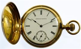 18k Gold American Hunter Case Pocket Watch