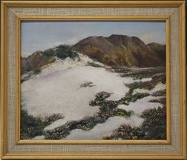 LOT #19- EARLY CALIFORNIA OIL ON BOARD, SIGNED BOTTOM