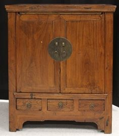LOT #138- 19TH C. CHINESE DOUBLE DOOR CABINET