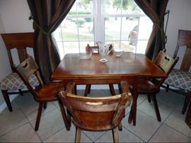 Cushman Dining table with 4 chairs