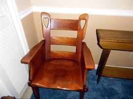 Cushman wooden chair with arms