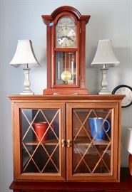 Nice Display Cabinet and beautiful clock