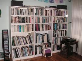Lots of books at this sale: popular fiction, poetry, art, drawing, classics, etc
