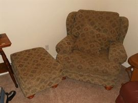 Large Chair with Ottoman