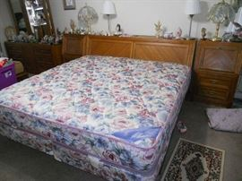 Great California King Bed with Lighted Headboard