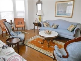 Overview of living room furniture