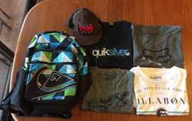 JYR009 Young Men's Designer Lot Quiksilver, Billabong, Domo