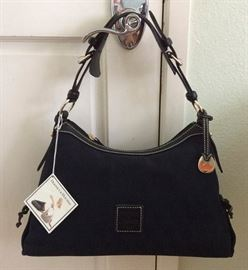 JYR014 Black Signature Dooney & Bourke Slouch Bag NWT