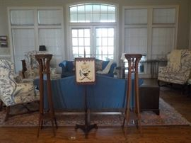 Custom furniture, antique plant stands