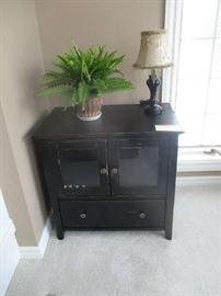 Black cabinet, home decor