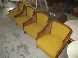 For mid-century modern low armchairs