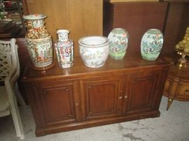 Buffet / server and Home Decor vases