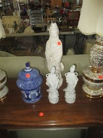 Oriental figurines and decor items
