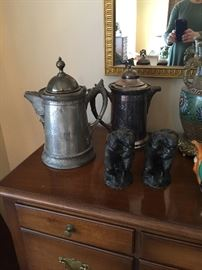 Antique Silverplate Water Pitchers