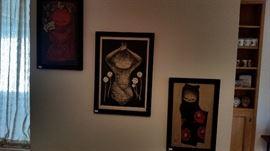 Lots of artwork.
