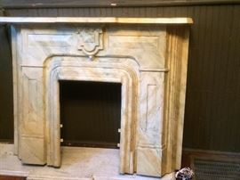 metal antique fireplace mantal