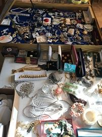 More costume, some sterling and lots of watches
