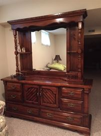 Mirrored Dresser with Matching Nightstands SET