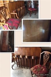* Lammerts Dining Room Set, China Cabinet, Table w 6 Chairs , the Table has a scratch - will need TLC