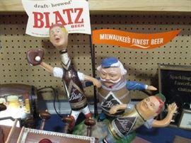 Vintage Blatz Beer Baseball bar display