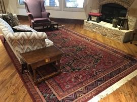 Caucasian Style area rug /carpet  (Set up & Photo by BC)