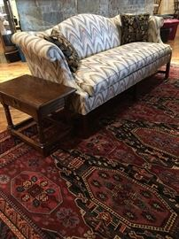 Vintage Federal Revival Settee with flame stitch upholstery by Hickory Furniture .  (Set up and Photo by BC)