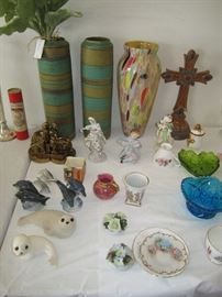 Vintage pottery and glass