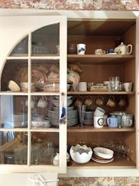 Built-in butler's pantry with loads of vintage goodies!