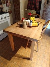 Need a hard rock maple butcher block table? We have one!