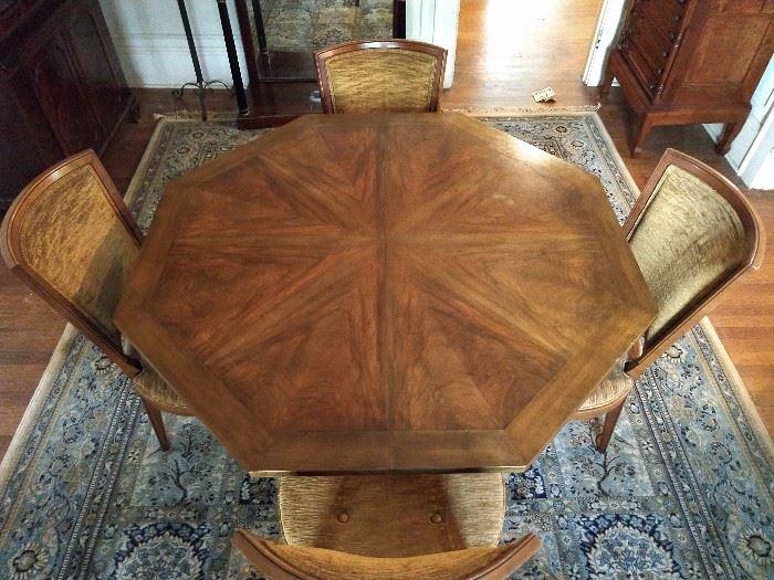 Top view of the Baker dining table - great veneer!