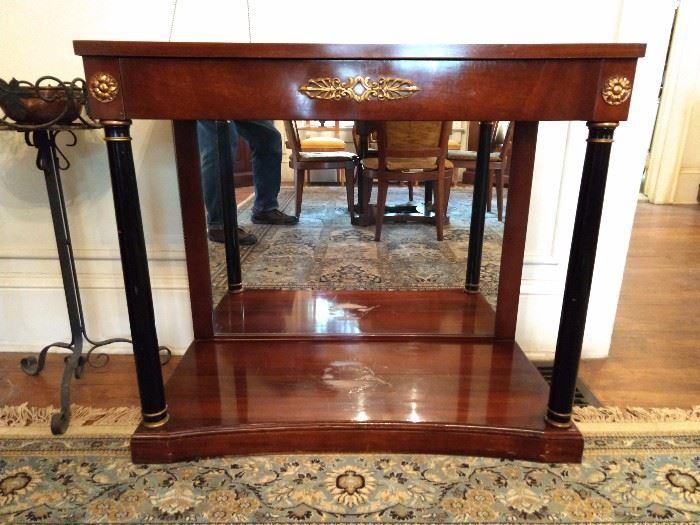 Vintage French Empire mahogany/ ebony side table.