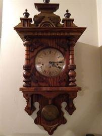 Some ol' handmade German wall clock - tick tock in any language.