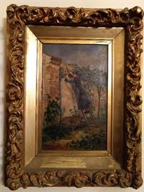 THIS is a rare find indeed!                                                               An original oil painting, on canvas, by 19th century American artist W. P. Brickwedel.  Google search yielded a recent auction result,  April 2008 at Cowan's Auctions, for $8,050.00!