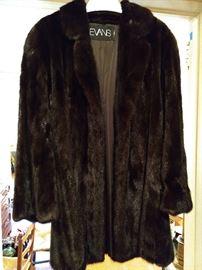 SWANKY black mink swinger jacket, by Evans Furs, of course!