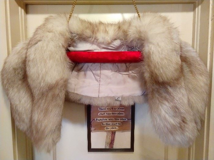 Not to be outdone, there's also a foxy summer length fur, for Atlanta's bitter cold winter season.