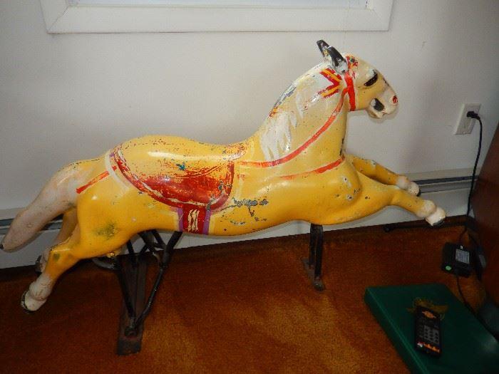 Vintage coin riding horse