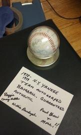 NY Yankees signed baseball