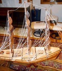 3 foot schooner boat model