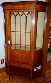 Antique marquetry  china cabinet