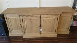 "Restoration Hardware French Panel 60"" Media Console"