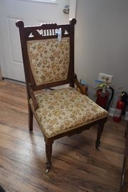 chair w/floral pattern