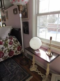 Cast Iron Side Table, Floor Lamps