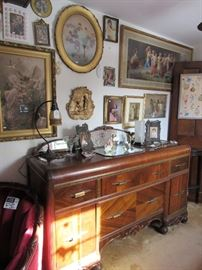 1930s Buffet with Mirror-Back
