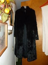 Exquisite full length black RABBIT coat..if you saw this earlier, I mistakenly thought it was mink..sorry!