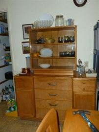 Awesome Baumritter Mid-century China Cabinet..for those of you who looked at it with the glass covered, we got that stuff off and it looks perfect!