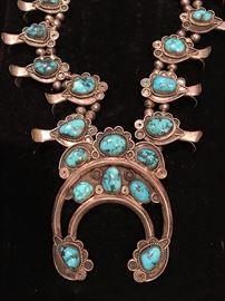 Vintage sterling Squash Blossom necklace