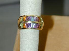 H Stern 18k Rainbow Gemstone Ring - Size 7