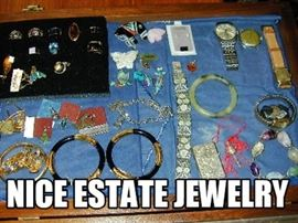Nice case of Estate Jewelry