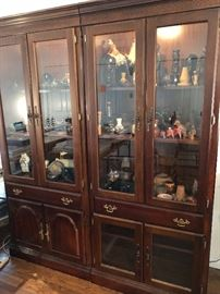 Several very nice lighted display cases are being offered in this sale.
