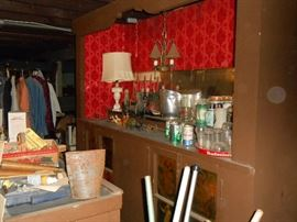 Basement bar - needs tidying!
